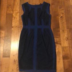 BCBG Blue black dress